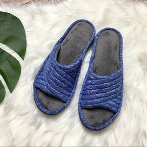 Isotoner Royal Blue Sandal Slippers